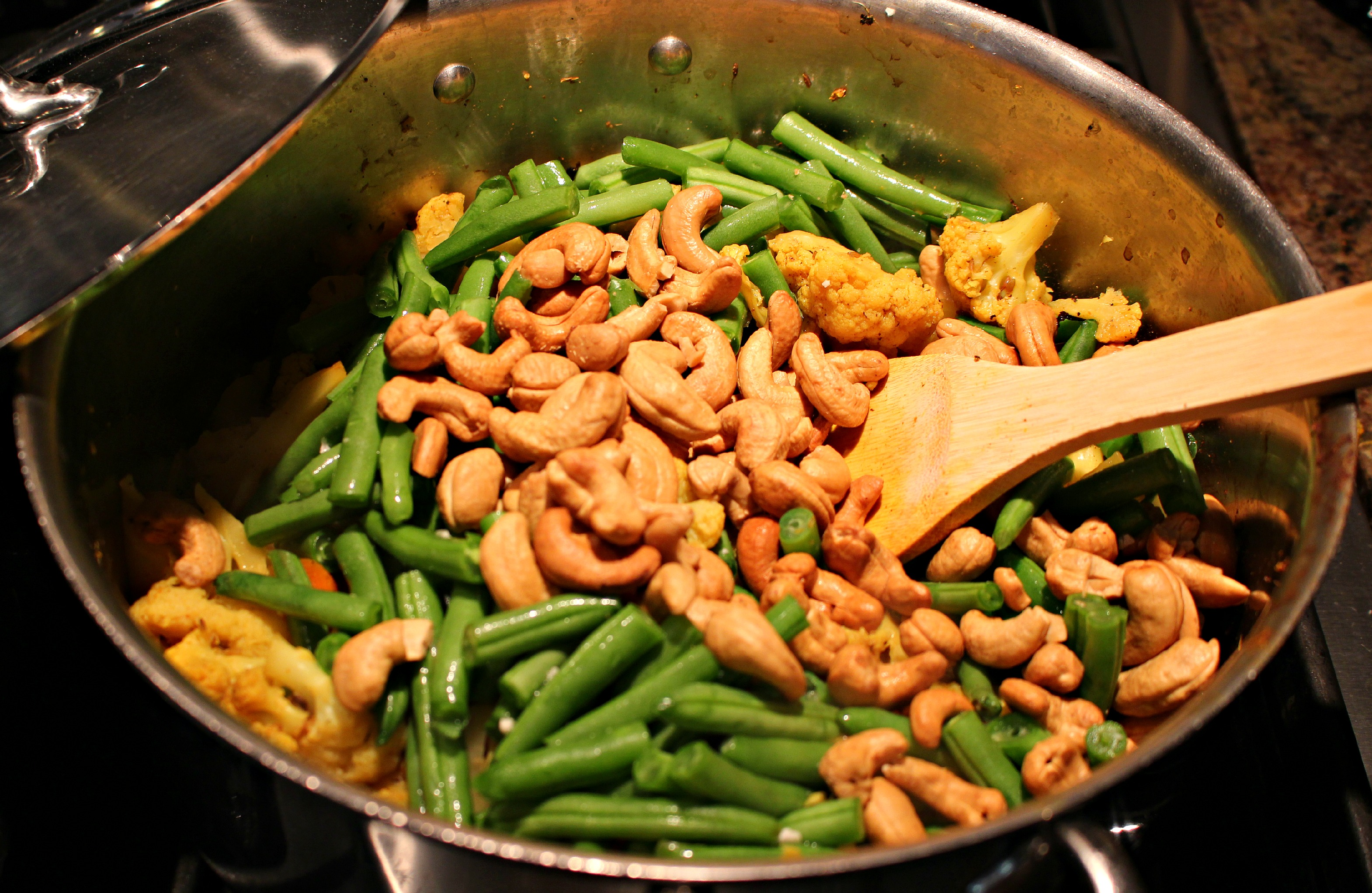 cashews and beans