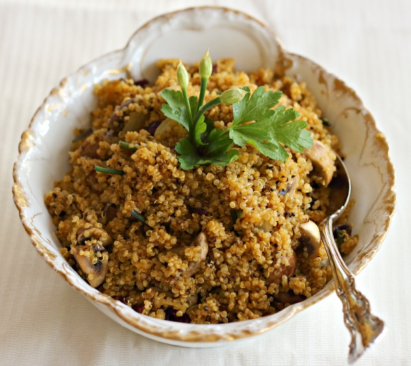 quinoa with mushrooms updated